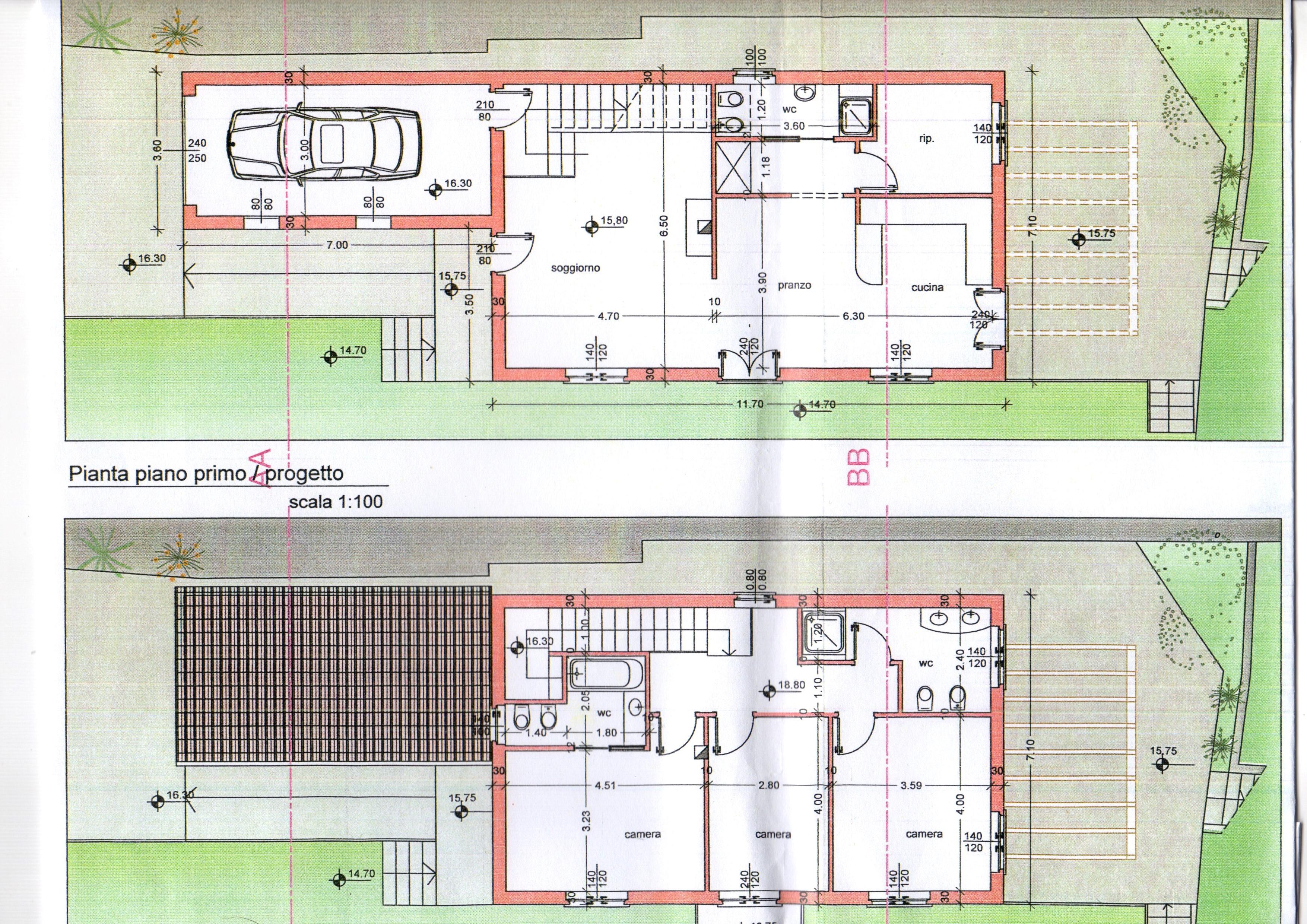 Sanremo villetta su due piani posizione unica dominante for Casa su due piani progetto